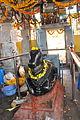Nandi (bull) facing the shrine in the Rameshwara Temple at Keladi.jpg