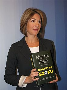 Klein in 2008 with the Polish edition of Shock Doctrine