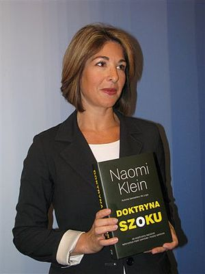 Naomi Klein - Klein in 2008 with the Polish edition of Shock Doctrine