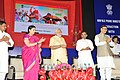 Narendra Modi launching the 'kala Utsav' website, an initiative of Ministry of Human Resource Development to promote arts, on eve of the Teachers' Day, at Manekshaw Centre.jpg