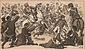 Nas ruas de S. Petersburgo — Cossacos e mais forças do Czar matando e chicoteando homens, mulheres e crianças.jpg