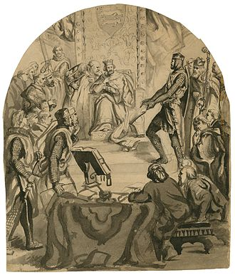 King John (play) - A 19th century drawing by Thomas Nast