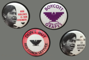 National Farm Workers Association protest buttons