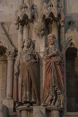 Hermann I. von Meißen und Reglindis, Stifterfiguren im Westchor des Naumburger DOms