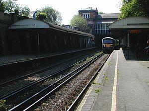 North Dulwich railway station - Image: Ndulwichplatform