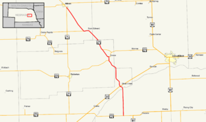 Nebraska Highway 39 - Image: Nebraska Highway 39 map