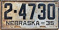 Nebraska license plate 1935 from the private collection of Jim Smith.jpg