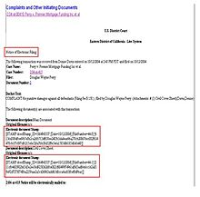 Notice of electronic filing - Wikipedia