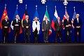 Líderes do P5+1 reunidos em Lausanne, Suíça.
