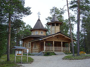 Skolts - The wooden Skolt Sámi Orthodox Church in Nellim