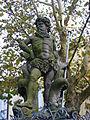 Neptunbrunnen Bamberg, Teilansicht Neptun frontal.JPG