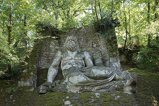 Neptune in the park of monsters, close to Bomarzo