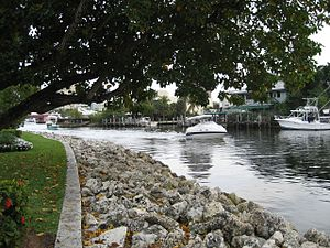 New River (Broward County, Florida) - The New River as seen from Fort Lauderdale's Riverwalk.