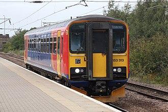 Newark North Gate railway station - East Midlands Trains service for Grimsby