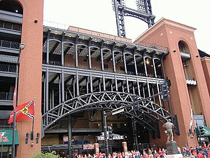 Sports in St. Louis - The St. Louis Cardinals' Busch Stadium during its first season in 2006.