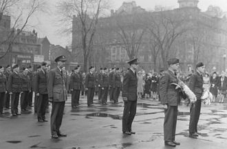 Australia–Canada relations - Ceremony for Anzac Day, a national day of remembrance in Australia and New Zealand, held in Montreal, Quebec, Canada in 1941