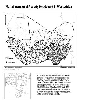 Multidimensional Poverty Index - MPI Headcount in West Africa