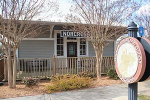 Norcross, Georgia - Norcross train depot