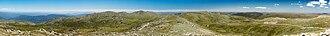 Mount Kosciuszko - Looking north from the summit towards Mount Townsend