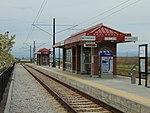 Northeast at 5600 W Old Bingham Hwy station platform, Apr 16.jpg