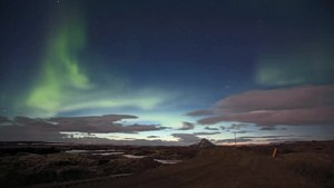 File:Northern Lights over Lake Myvatn.webm