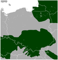Norway Spruce Picea abies distribution in Poland map.png