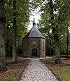 foto van Nederlands Hervormde Kerk. Langwerpig achtkant zaalgebouw