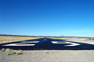 San Manuel Airport - Image: Numbers on the Runway panoramio