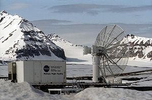 Economy of Svalbard - NASA research facility in Ny-Ålesund