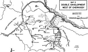 Battle of the Korsun–Cherkassy Pocket - Sweeping Soviet advances that created the pocket.