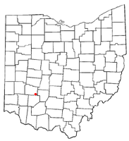 Location of Bowersville, Ohio