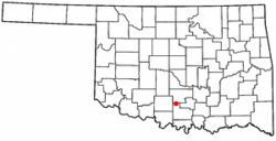 Location of Tatums, Oklahoma