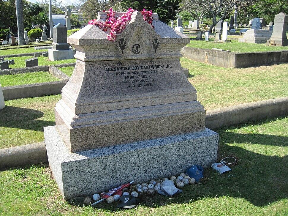OahuCemetery-AlexanderJoyCartwrightJr-tombstone