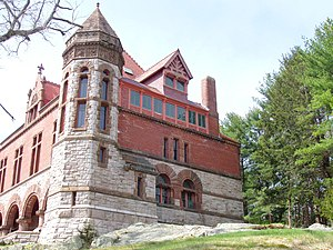 Oakes Ames Memorial Hall - Image: Oakes Ames Memorial Hall (North Easton, MA) side view