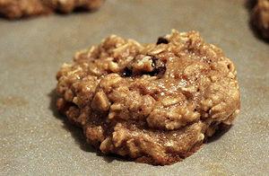 Oatmeal cookies with a touch of unsweetened co...