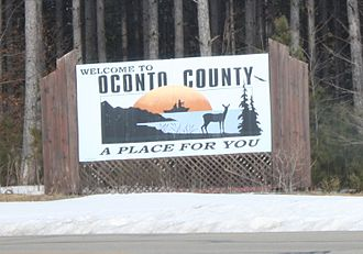 Oconto County, Wisconsin - Oconto County sign