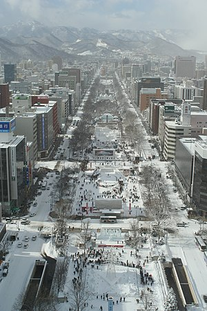 Humid continental climate - The snowy city of Sapporo, Japan