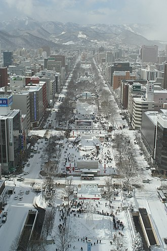 Humid continental climate - The snowy city of Sapporo, Japan, has a humid continental climate (Köppen Dfa).
