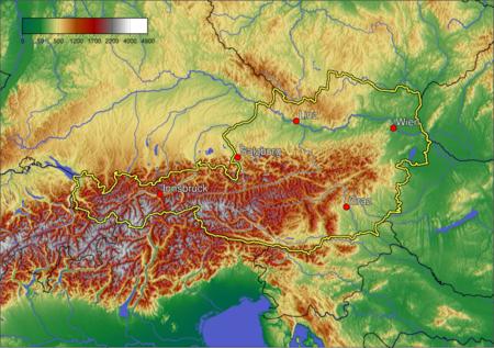 karta austrije Geografija Austrije   Wikipedia karta austrije