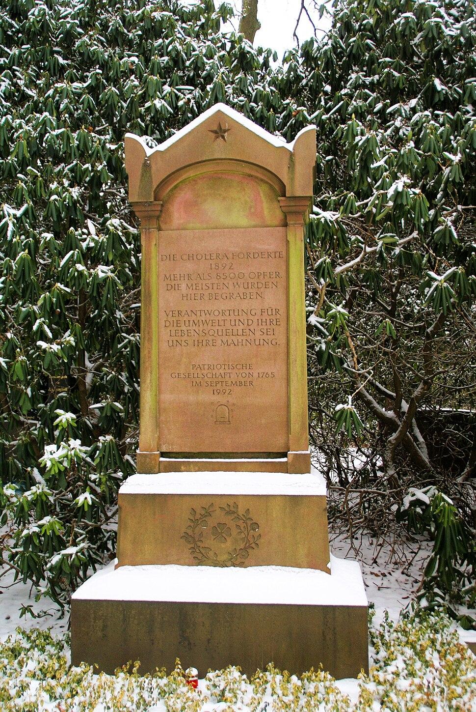 Ohlsdorf - Monument Cholera