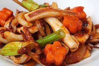 Bokkeum - Ojingeo-bokkeum (stir-fried squid)