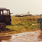 Old IL-14 at Tirana Airport in 1999.jpg