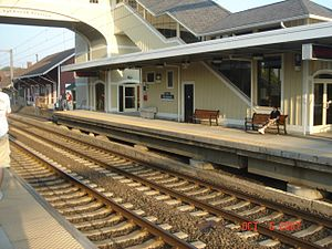 Old Saybrook, Connecticut - The platforms at the Old Saybrook train station.