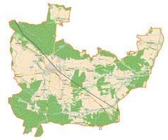 Mapa lokalizacyjna gminy Olesno