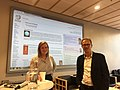 Open access week, Jorid Martinsen (WMNO) and Svein Engelstad from University of Oslo.jpg