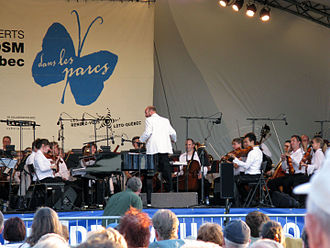 Montreal Symphony Orchestra - Outdoor concert of the Montreal Symphony Orchestra with conductor Jean-François Rivest in the borough of Pierrefonds-Roxboro in August 2008.