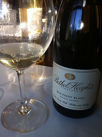 Pinot blanc - An Oregon Pinot blanc.