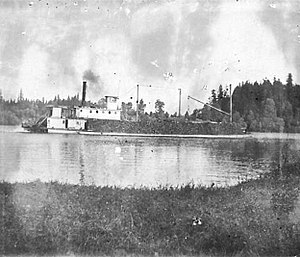 Orient (sternwheeler) - Image: Orient on Lewis River 1894 or before