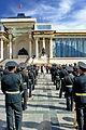 Orkiestra mongolskiej armii na placu Suche Batora w Ułan Bator 02.JPG