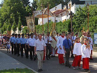 Corpus Christi (feast) - Procession in Ottersweier, Germany